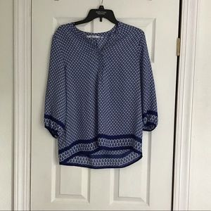 Violet & Claire blue and white blouse size M